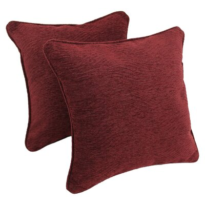 Jaquard Chenille Throw Pillow Fabric: Bordeaux
