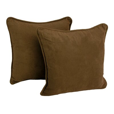 Micro Suede Throw Pillow (Set of Two) Color: Chocolate