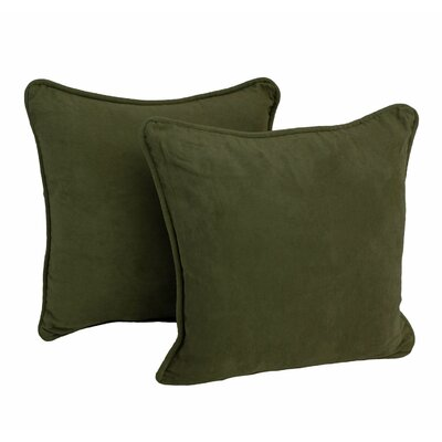 Micro Suede Throw Pillow (Set of Two) Color: Hunter Green