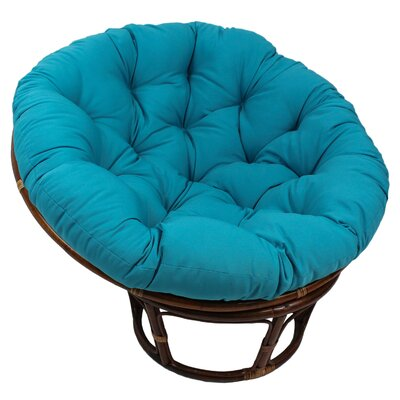 Papasan Cushion Fabric: Aqua Blue