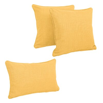 Corded Outdoor Pillow Set Fabric: Lemon