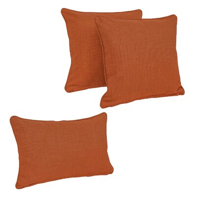 Corded Outdoor Pillow Set Fabric: Cinnamon