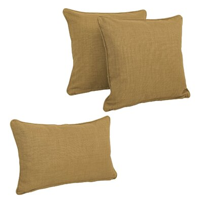 Corded Outdoor Pillow Set Fabric: Wheat