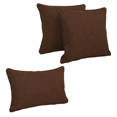 Corded Outdoor Pillow Set Fabric: Cocoa