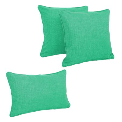 Corded Outdoor Pillow Set Fabric: Emerald