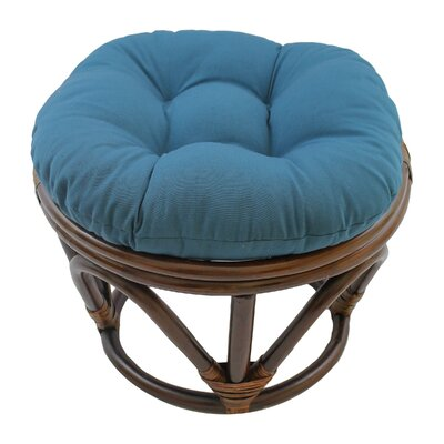 Papasan Ottoman Cushion Fabric: Navy