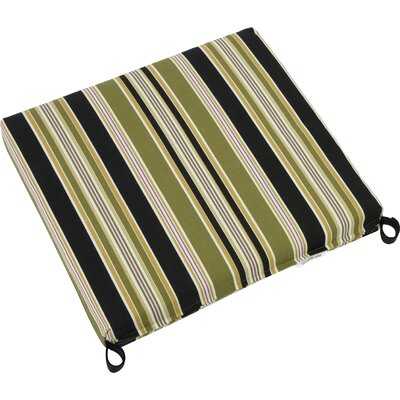 Outdoor Patio Chair Cushion Fabric: Montfleuri Sangria