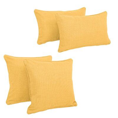 Juliet 4 Piece Outdoor Throw Pillows Set Color: Lemon