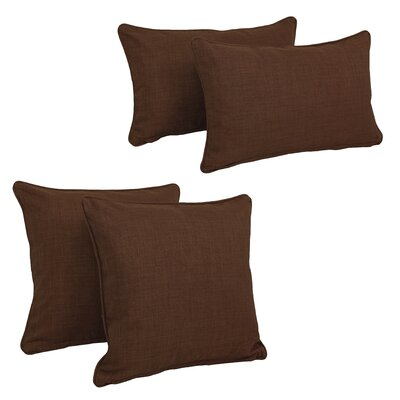 Juliet 4 Piece Outdoor Throw Pillows Set Color: Cocoa