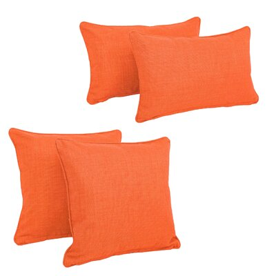 Juliet 4 Piece Outdoor Throw Pillows Set Color: Tangerine Dream
