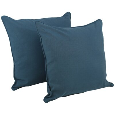 Soft Home Furnishings Solid Floor Pillow Fabric: Indigo