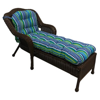 Outdoor Chaise Lounge Cushion Fabric: Marlow Spice