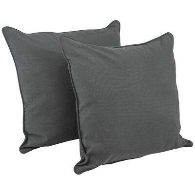 Katelyn Solid Floor Pillow Fabric: Black