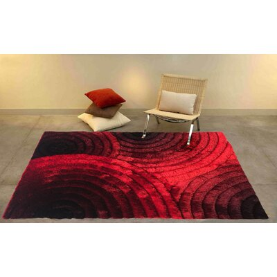 Kleo Red/Black Area Rug