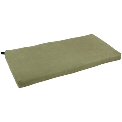 Microsuede Bench Cushion Fabric: Sage