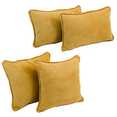 Karin 4 Piece Microsuede Pillow Set Color: Lemon