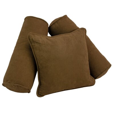 3 Piece Microsuede Pillow Set Color: Chocolate