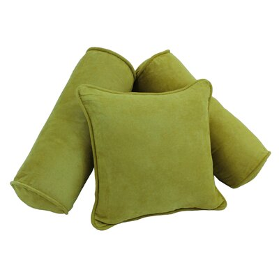 Karl 3 Piece Microsuede Pillow Set Color: Mojito Lime