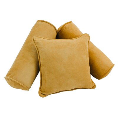 3 Piece Microsuede Pillow Set Color: Lemon
