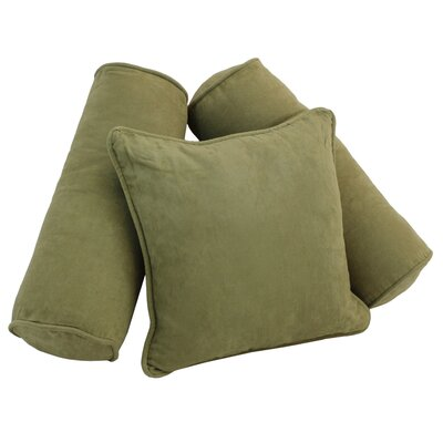 Karl 3 Piece Microsuede Pillow Set Color: Sage