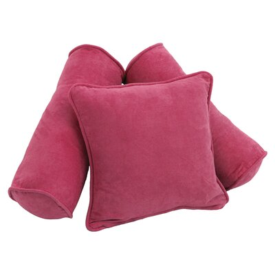 3 Piece Microsuede Pillow Set Color: Bery Berry