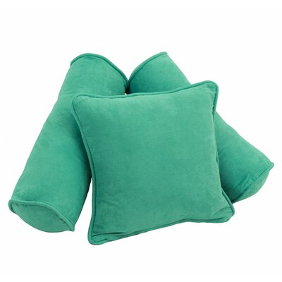 Karl 3 Piece Microsuede Pillow Set Color: Emerald