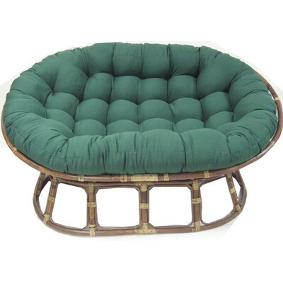 Oversize Double Papasan Chair Cushion Color: Emerald