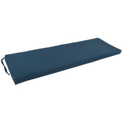 63 Solid Indoor Bench Cushion Color: Indigo