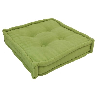 20 Tufted Micro Suede Floor Pillow Color: Mojito Lime