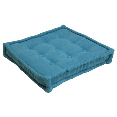 Microsuede Floor Pillow Color: Aqua Blue