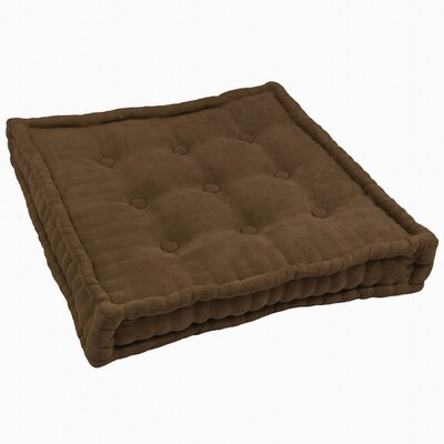 Microsuede Floor Pillow Color: Chocolate