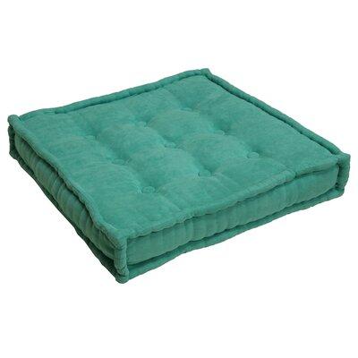 Microsuede Floor Pillow Color: Emerald