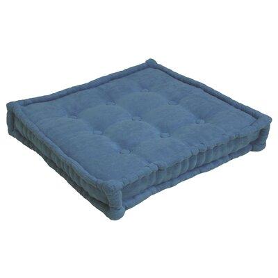 Microsuede Floor Pillow Color: Indigo