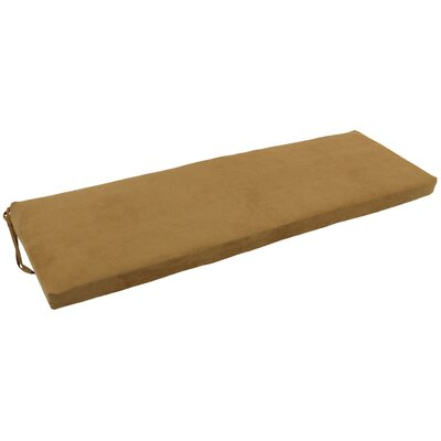 Micro Suede Indoor Bench Cushion Fabric: Camel