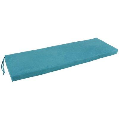 Micro Suede Indoor Bench Cushion Fabric: Aqua Blue