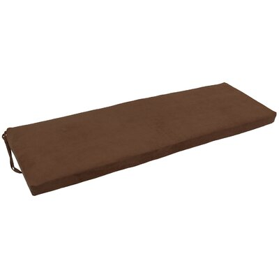 Micro Suede Indoor Bench Cushion Fabric: Chocolate
