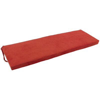 Micro Suede Indoor Bench Cushion Fabric: Cardinal Red