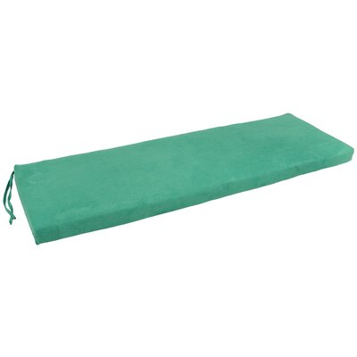 Micro Suede Indoor Bench Cushion Fabric: Emerald