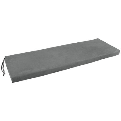 Micro Suede Indoor Bench Cushion Fabric: Gray