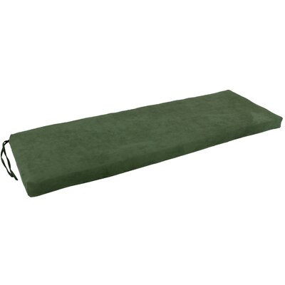 Micro Suede Indoor Bench Cushion Fabric: Hunter Green