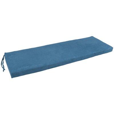Micro Suede Indoor Bench Cushion Fabric: Indigo