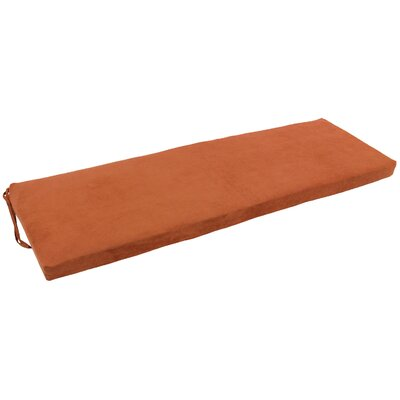 Micro Suede Indoor Bench Cushion Fabric: Spice