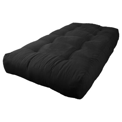 8 Foam Twin Size Futon Mattress Color: Black
