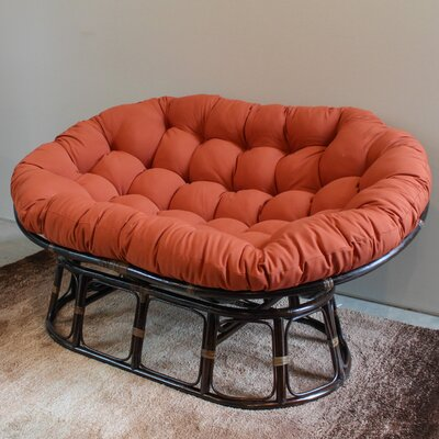 Oversize Double Papasan Chair Cushion Color: Spice