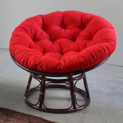 Papasan Cushion Fabric: Red