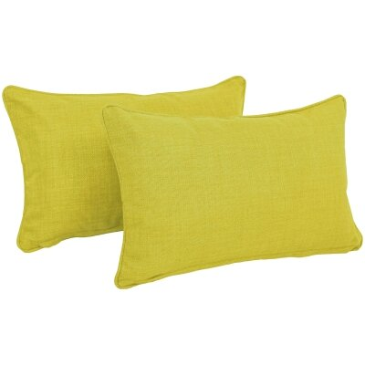 Solid Outdoor Lumbar Pillow Color: Lime