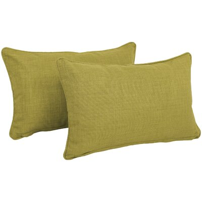 Solid Outdoor Lumbar Pillow Color: Avocado