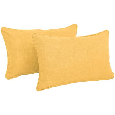 Solid Outdoor Lumbar Pillow Color: Lemon