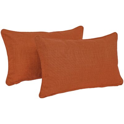 Solid Outdoor Lumbar Pillow Color: Cinnamon