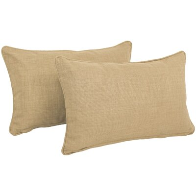 Solid Outdoor Lumbar Pillow Color: Sandstone